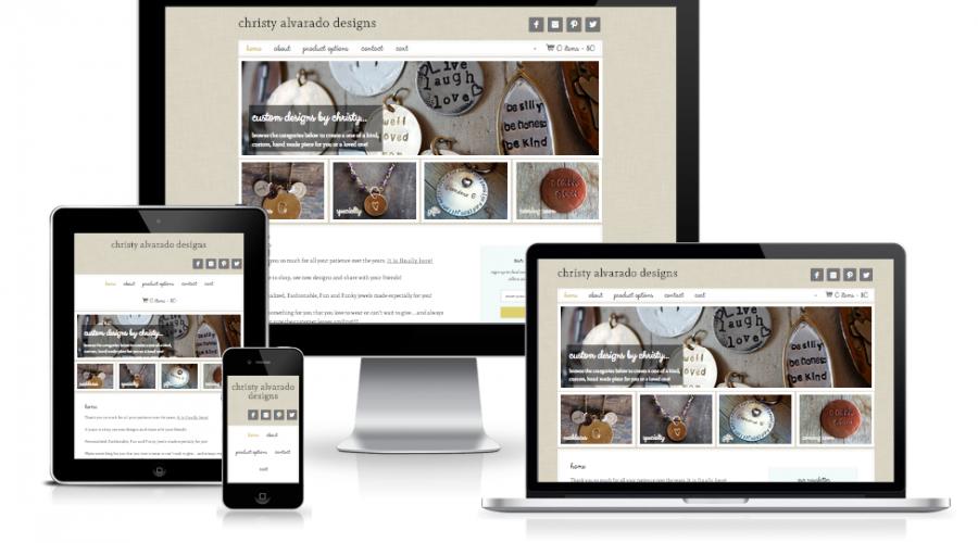 Christy Alvarado Designs eCommerce Site